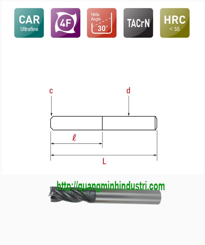 Dao Phay CNC Thô 4 Lưỡi