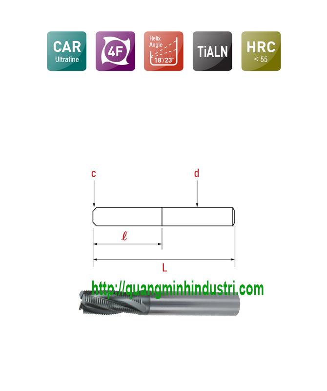 Dao Phay CNC Góc Xoắn Thấp