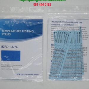 giấy đo nhiệt độ trên vải Vilene 82 - 127