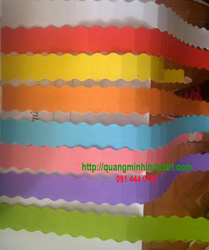 Nhãn giấy màu meto đánh số trong ngành may