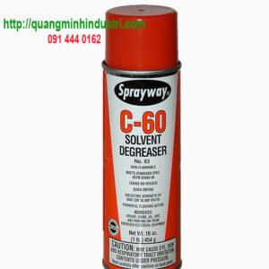 Xịt tẩy tem nhãn dầu mỡ sprayway C60